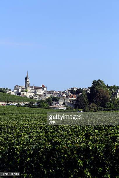A picture taken on August 27 2013 shows the village of SaintEmilion southwestern France SaintEmilion is one of the principal red wine areas of...