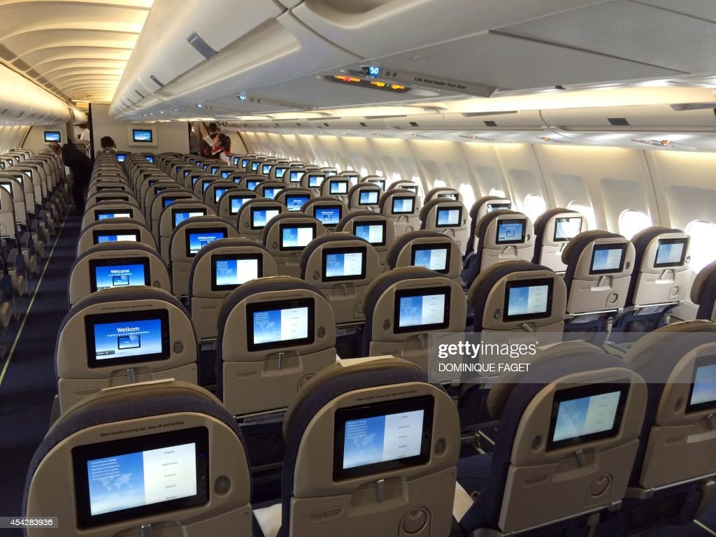 Picture Taken On August 28 2014 At Brussels Airport Inside A Plane Of The
