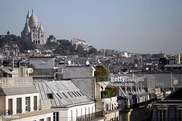 A picture taken on August 30 2011 shows the Sacré Coeur Basilica of Montmartre north of Paris AFP PHOTO THOMAS COEX