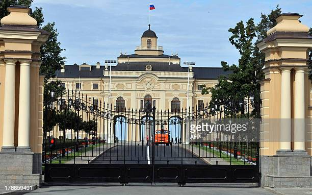 A picture taken on August 30 shows a view of at the Konstantinovsky Palace in Strelna just outside StPetersburg the venue for the upcoming G20 summit...