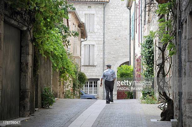 A picture taken on August 5 2013 shows a view of the village of Lauzerte southwestern France AFP PHOTO / PASCAL PAVANI