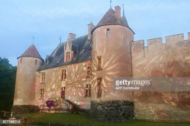 A picture taken on August 5 2017 shows a view of the medieval castle in AinayleVieil central France where the 4th edition of the electro music...