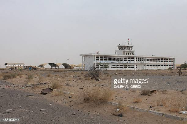 A picture taken on August 5 shows the AlAnad airbase in the southern Lahj governorate some 50 kilometres north of the Yemeni Red Sea port of Aden a...