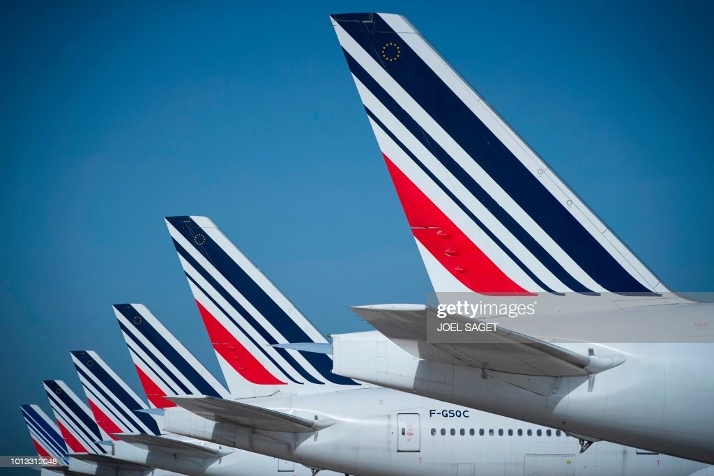 FRANCE-AIRPORT-TRANSPORT-AIR-FRANCE : News Photo