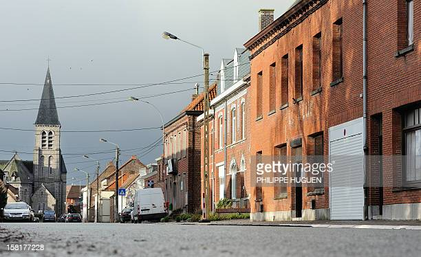 Picture taken on December 10 2012 of the church of Nechin a Belgium village close to the French border and where France's best known actor Gerard...