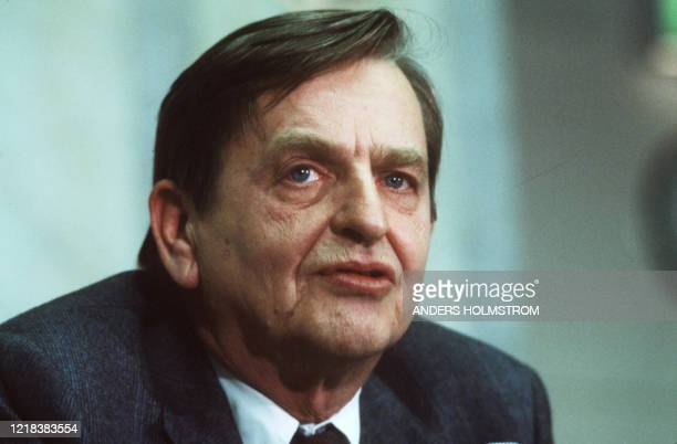 A picture taken on December 12 1983 shows Swedish politican and Prime minister Olof Palme in Stockholm Swedish prosecutors will announce on June 3...