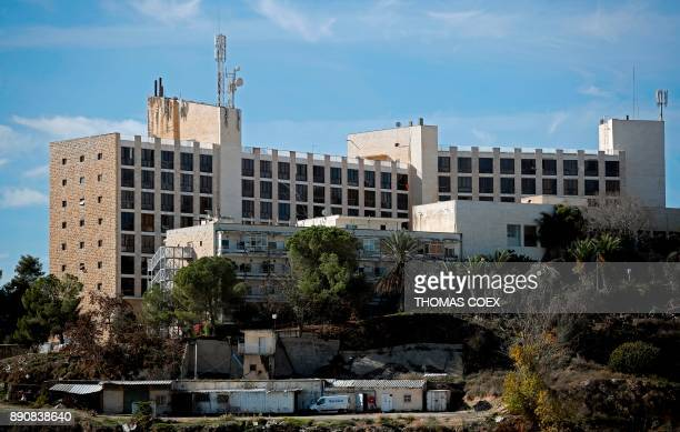 A picture taken on December 12 shows the building of the former Diplomat Hotel in Jerusalem considered one of the options to host the new US embassy...