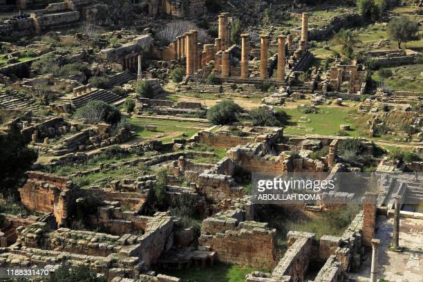 A picture taken on December 13 shows a view of the ancient Greek city of Cyrene founded in 630 BC as a colony of Thira on the outskirts of the Libyan...