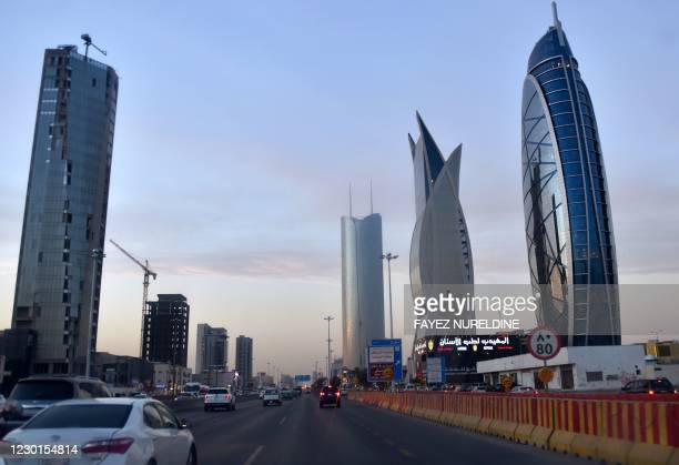 Picture taken on December 16, 2020 shows newly constructed towers in Ryadh, the Saudi Arabian capital and main financial hub. - Saudi Arabia...