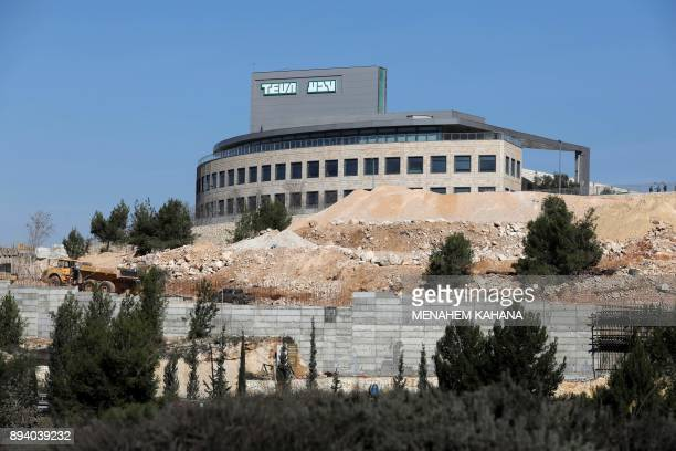 A picture taken on December 17 shows the Jerusalem plant of Teva Pharmaceutical Industries the world's biggest manufacturer of generic drugs Teva...