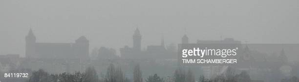 Picture taken on December 19 2008 shows a panarama of the skyline in the of the southern German city of Nuremberg during bad weather AFP PHOTO DDP /...
