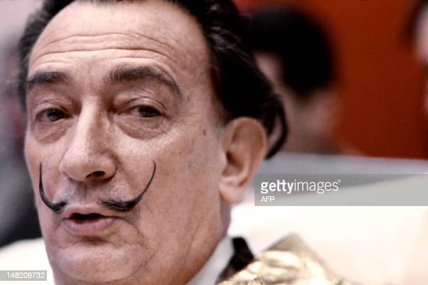 Picture taken on December 1971 of Spanish artist Salvador Dali