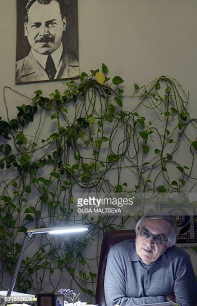 Picture taken on December 20, 2016 shows Russia's Institute of Plant Genetic Resources director Nikolai Dzyubenko speaking during an interview with...