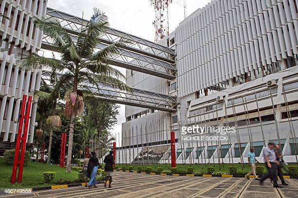 A picture taken on December 3 2014 in Arusha shows the building hosting the International Criminal Tribunal for Rwanda Two decades of work and 61...