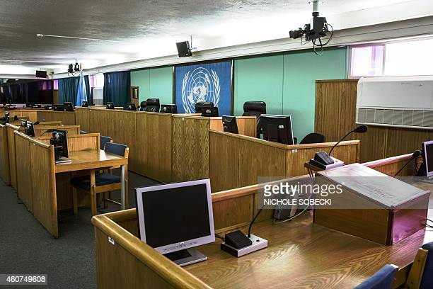 A picture taken on December 3 2014 in Arusha shows the only remaining active courtroom of the International Criminal Tribunal for Rwanda Two decades...