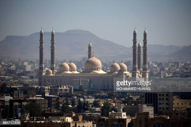 A picture taken on December 3 shows the AlSaleh Mosque in the Yemeni capital Sanaa / AFP PHOTO / Mohammed HUWAIS