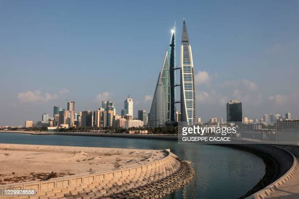 Picture taken on December 3 shows the world trade centre and the skyline of the Bahraini capital Manama.