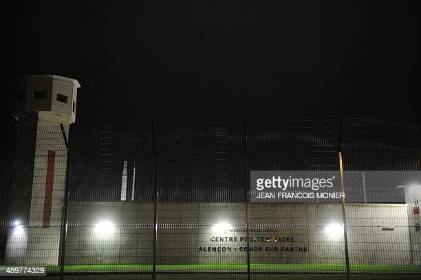 A picture taken on December 30 2013 in CondesurSarthe near Alencon western France shows an overview of the prison in which two inmates took hostage...