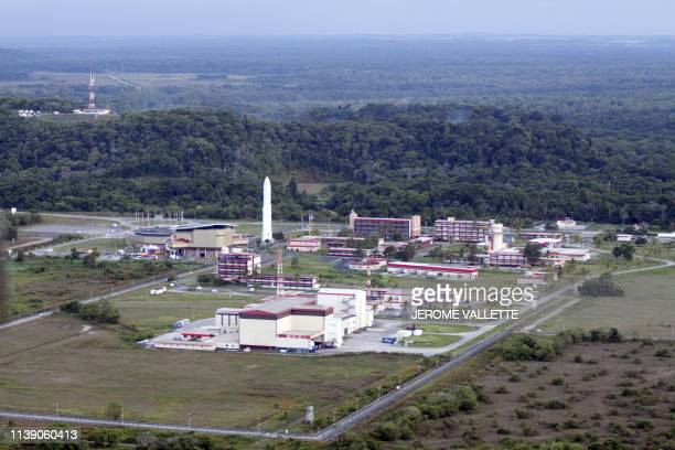 A picture taken on December 5 2010 shows an aerial view of the Jupiter room at the Guiana Space Centre in Kourou French Guiana AFP PHOTO JEROME...