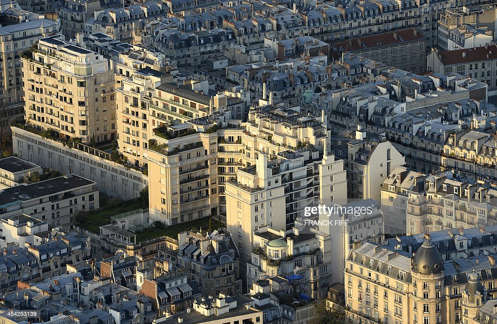 A picture taken on December 6, 2013 shows buildings in the 16th district of Paris.