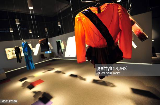 A picture taken on February 1 2017 shows children's choire uniform displayed at Sarajevo's newly opened War Childhood Museum on February 1 2017...