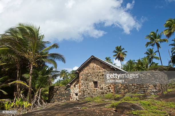 A picture taken on February 13 shows the house where was the cell of Jewish French army captain Alfred Dreyfus on Devil's Island in the Caribbean Sea...