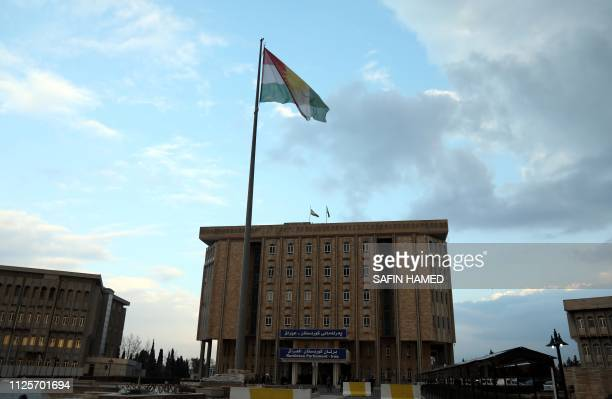 A picture taken on February 14 2019 shows Kurdistan's regional parliament in Arbil The Kurdistan parliament elected its first ever woman speaker to a...