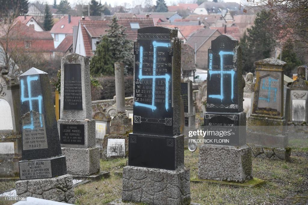 FRA: 80 graves vandalised at Jewish cemetery in east France