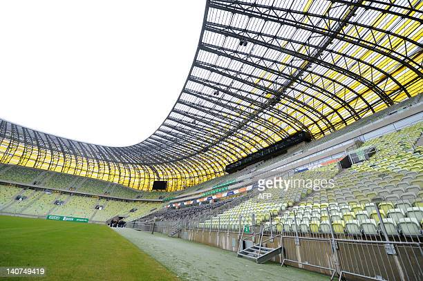 A picture taken on February 28 2012 shows the interior of the Gdansk Arena stadium which will host matches during the UEFA Euro 2012 football...