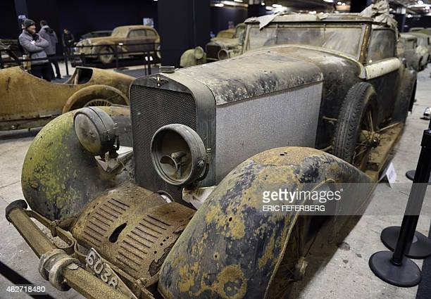 A picture taken on February 3 2015 shows a Hispano Suiza H6B Cabriolet from the Baillon collection at the Retromobile Car Show 2015 in Paris AFP...
