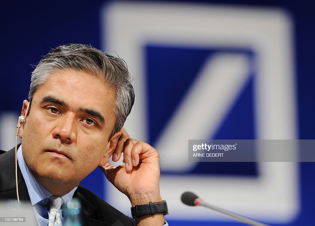 FILES - A picture taken on February 5, 2009 shows Anshu Jain, Head of Global Markets of Germany's biggest bank Deutsche Bank. The bank announced on June 15, 2010 that Indian Anshu Jain will become the sole head of the Deutsche Bank's corporate and investment bank from October 2010, placing him in a good position to potentially take over from CEO Josef Ackermann.