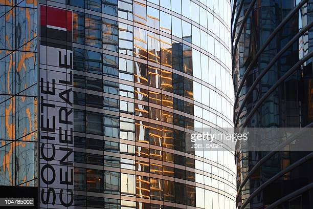 A picture taken on February 7 2008 at the La Defense district in Puteaux outside Paris shows French bank Societe Generale's central headquarters A...