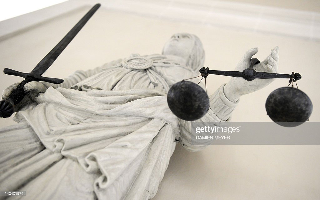 A picture taken on February 8, 2011 in Rennes, western France, shows a marble statue representing Themis, the Goddess of Justice at Brittany parliament, headquarters of Rennes appeal court. Rennes appeal court magistrates announced the adjournment of non-emergency hearings until February 10, 2011 evening during a social movement that followed French President Nicolas Sarkozy claim last week that their incompetence let a repeat sex offender allegedly murder and dismember a teenage girl. The French magistrates' union called for courthouses across the country to go on strike until February 10 in protest, while two major police unions accused the president of using the murder to further his own right-wing political aims.