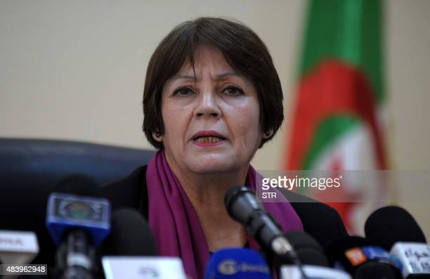 A picture taken on February 8 2015 shows Algerian Education Minister Nouria Benghebrit in Algiers Benghebrit has proposed that for the first two...