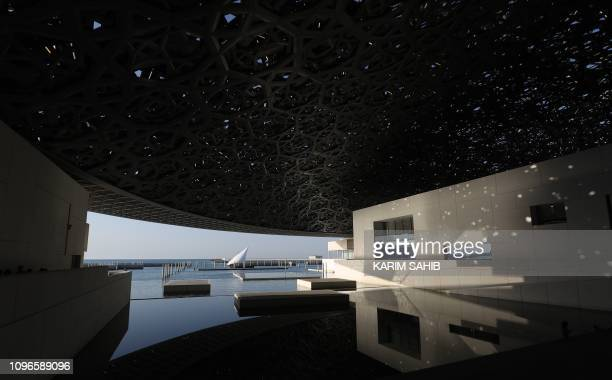 A picture taken on February 9 2019 shows a general view of the Louvre Abu Dhabi museum in the Emirati capital