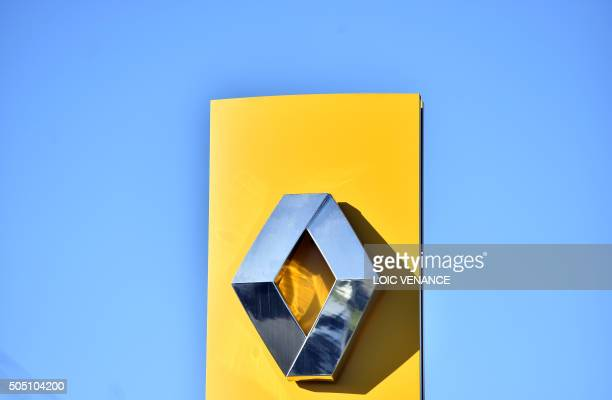A picture taken on January 15 2016 in SaintHerblain western France shows the logo of carmaker Renault A governmentappointed commission said on...