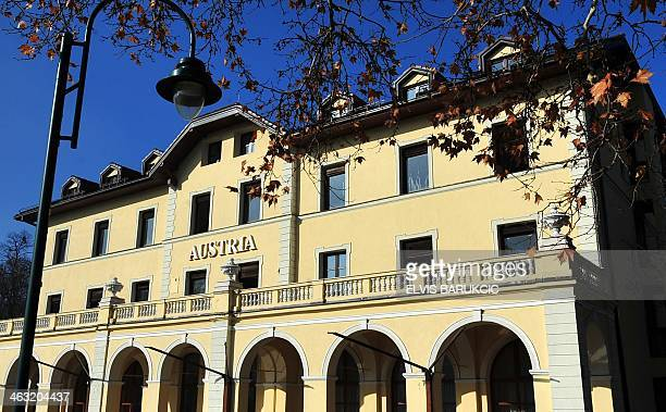 A picture taken on January 16 2014 shows the Austria Hotel in Sarajevo where AustroHungarian heir to the throne Archduke Franz Ferdinand and his wife...