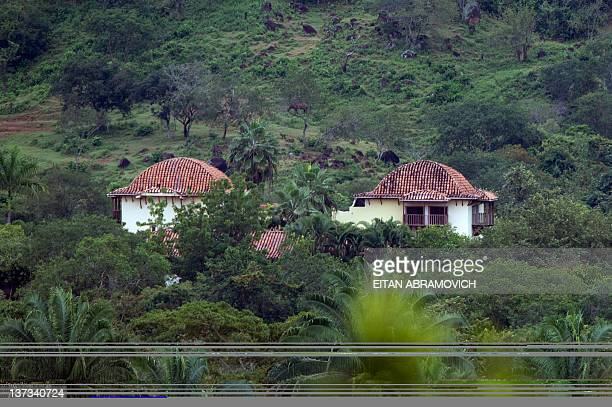 Picture taken on January 18 showing the residence Cactus property of French national Thierry Gaubert in Nilo Cundinamarca department 150 km from...