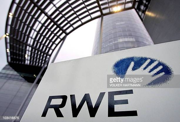 FILES A picture taken on January 21 2006 shows the headquarters of German energy supplier RWE AG in Essen western Germany RWE the second biggest...
