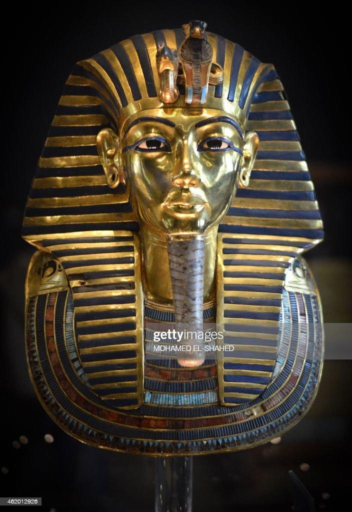 EGYPT-ARCHAEOLOGY-PHARAOH-TUTANKHAMUN-BEARD : News Photo