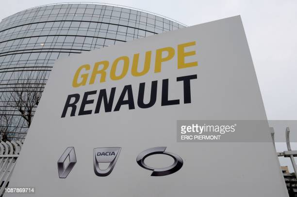 A picture taken on January 24 shows the headquarters of the French car manufacturer Renault in Boulogne Billancourt near Paris Embattled Renault boss...