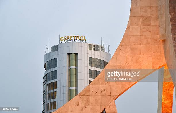 A picture taken on January 25 2015 in Malabo shows GEPetrol national oil company headquarters in the new administrative district of Malabo II AFP...
