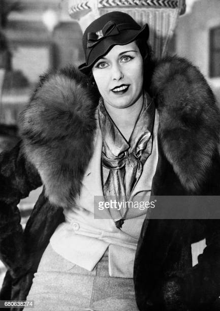 Picture taken on January 28 1936 in New York City of Arlette Stavisky widow of Alexandre Stavisky upon her arrival in the American city Arlette...