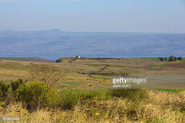 A picture taken on January 28 2016 shows the area near Kefar Hittim in the Galilee were the Israeli government plans to build a new town near...