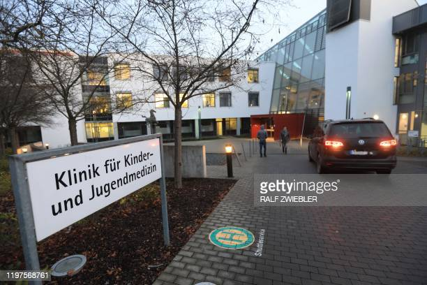 Picture taken on January 29, 2020 shows the children's hospital part of the university hospital in Ulm, southern Germany. - A nurse of the hospital...