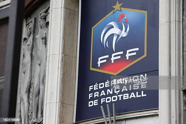 Picture taken on January 31 2013 at the front entrance of French Football Federation headquarters AFP PHOTO / THOMAS SAMSON