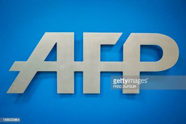 Picture taken on January 5, 2013 in Paris shows the logo of the Agence France Presse . AFP PHOTO FRED DUFOUR