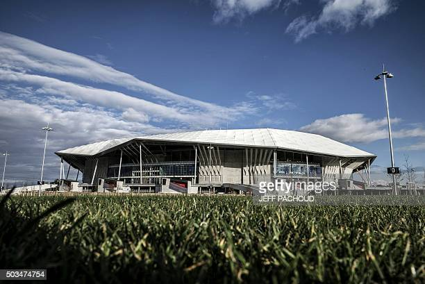 A picture taken on January 5 2016 shows Olympique Lyonnais football club's new stadium the Stade des Lumieres aka Grand Stade de Lyon in...