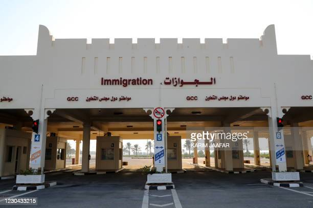 Picture taken on January 5 shows a general view of the Qatari side of the Abu Samrah border crossing with Saudi Arabia. - Saudi Arabia will reopen...