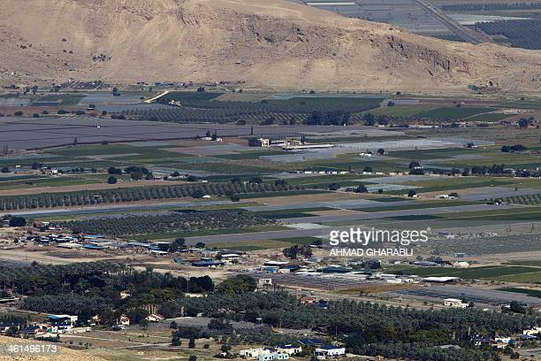 A picture taken on January 8 2014 shows a large view of the Jordan Valley According to reports coming out of the meetings between Israel and the...